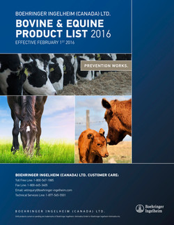 Price List Bovine & Equine Products