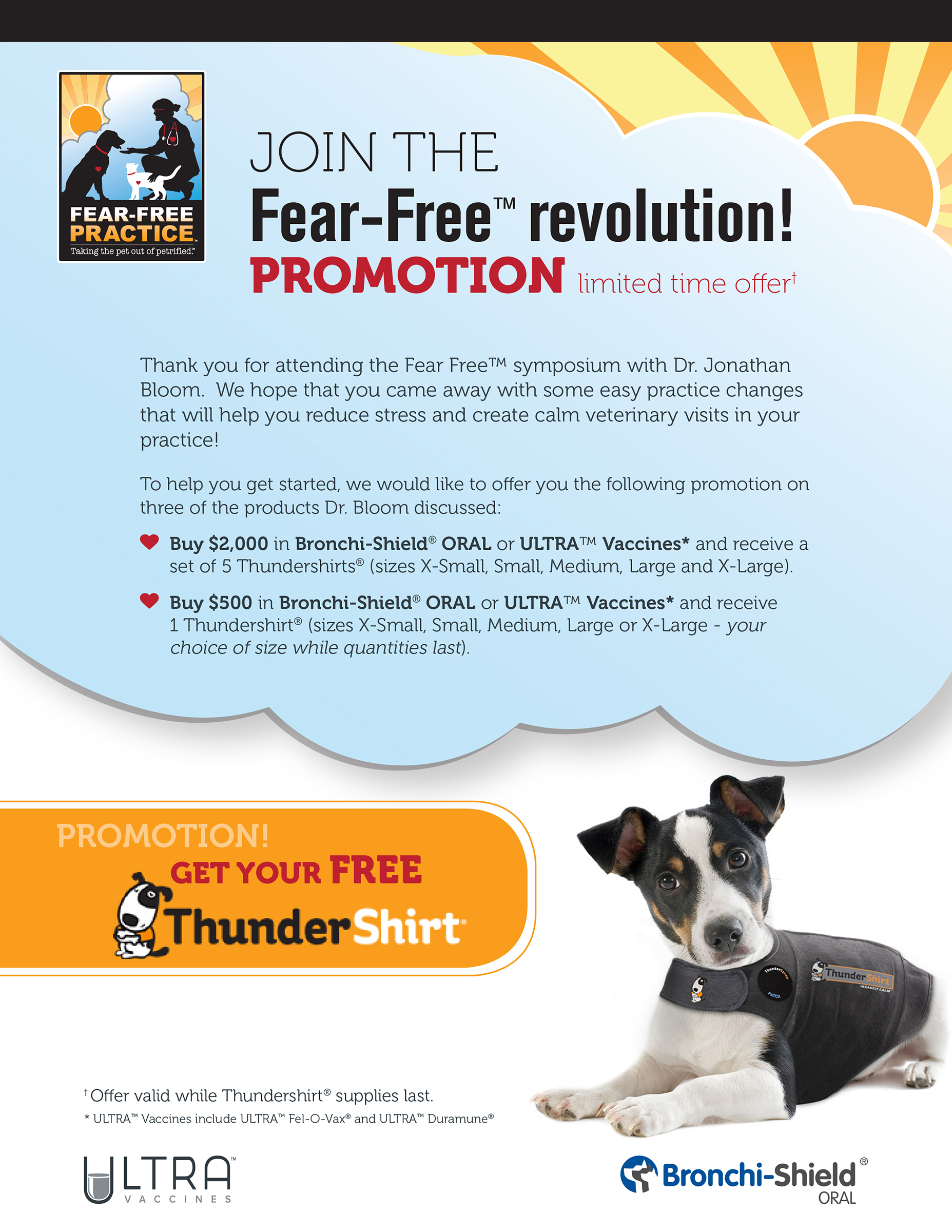 Fear Free Promotion Flyer