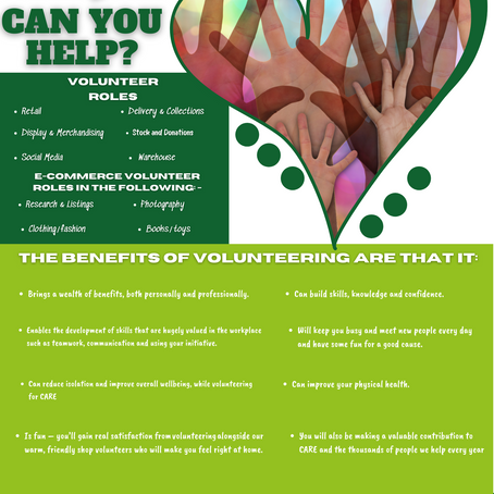 Volunteers Needed at CARE Shop