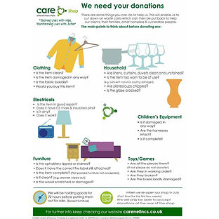 CARE Needs your donations
