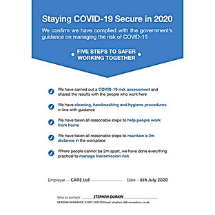 Staying Covid-19 Secure in 2020