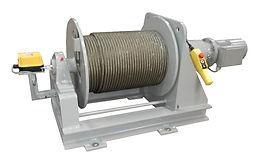 Treuil électrique 400V hydraulique Manufor gamme SB, manutention d'ouvrages, travaux maritimes et fluviaux pour applications treuil de manutention treuil de halage treuil de levage treuil de tirage treuil de traction treuil de translation va et vient