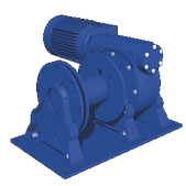 Treuil électrique 230V 400V gamme MCW à roue et vis sans fin, robuste, économique, pour applications treuil de manutention treuil de halage treuil de levage treuil de tirage treuil de traction treuil de translation va et vient