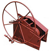 Manual coupling winch barge, inland and sea navigation
