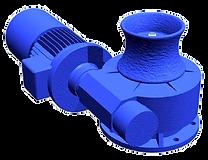 Cabestan électrique 400V hydraulique pour application halage guidage de haussière fune câble drisse accostage appontage pour bateau navire barge péniche port quai de chargement déchargement ou application translation va et vient