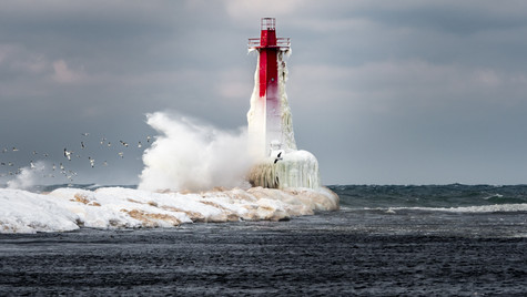 South Breakwater Lighthouse on Ice