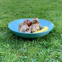 Wide fruit bowl