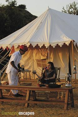 Canvas tent Rajasthan