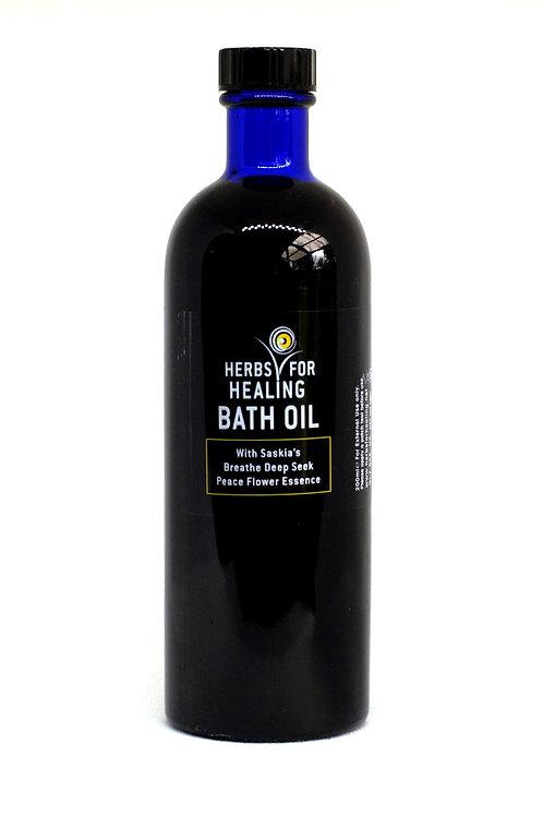 Bath Oil with Saskia's 'Breathe Deep Seek Peace' Flower Essence