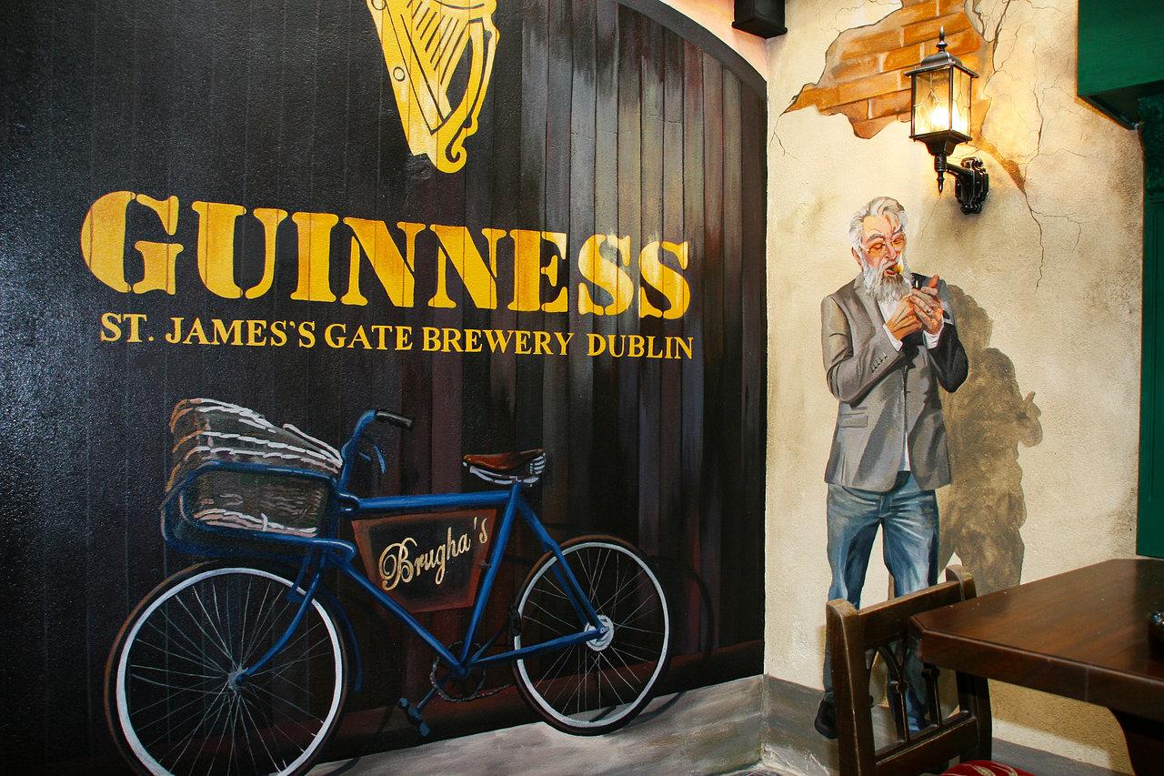 guinness Mural. Boomers. Dublin