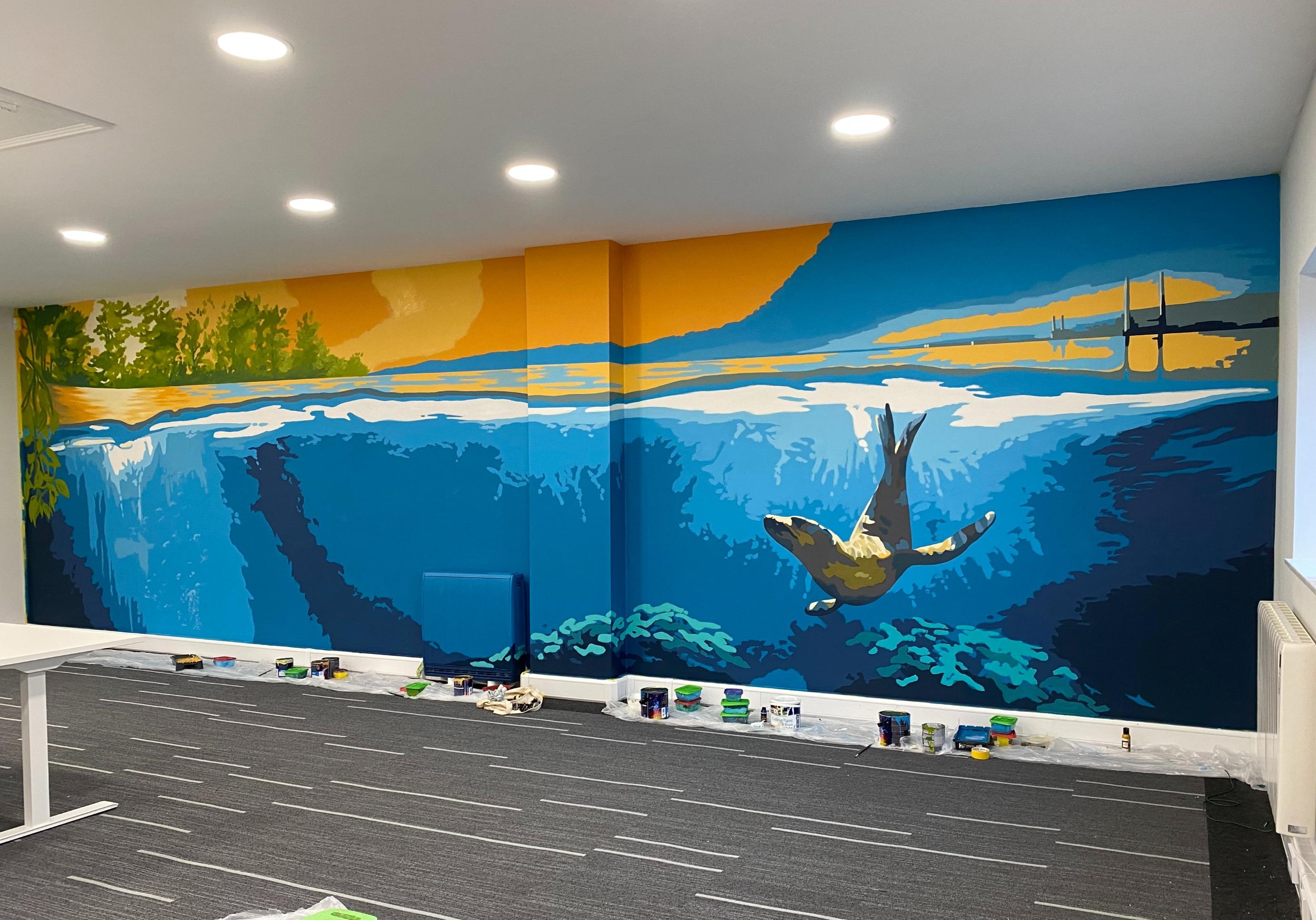 Biophilic mural