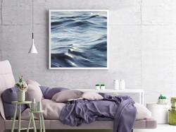 Dark ocean in bedroom