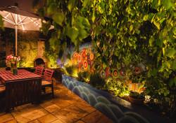 Ambient lighting for garden mural