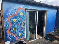 Mandala mural colour