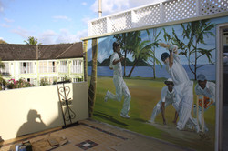 Cricket mural. St. Lucia