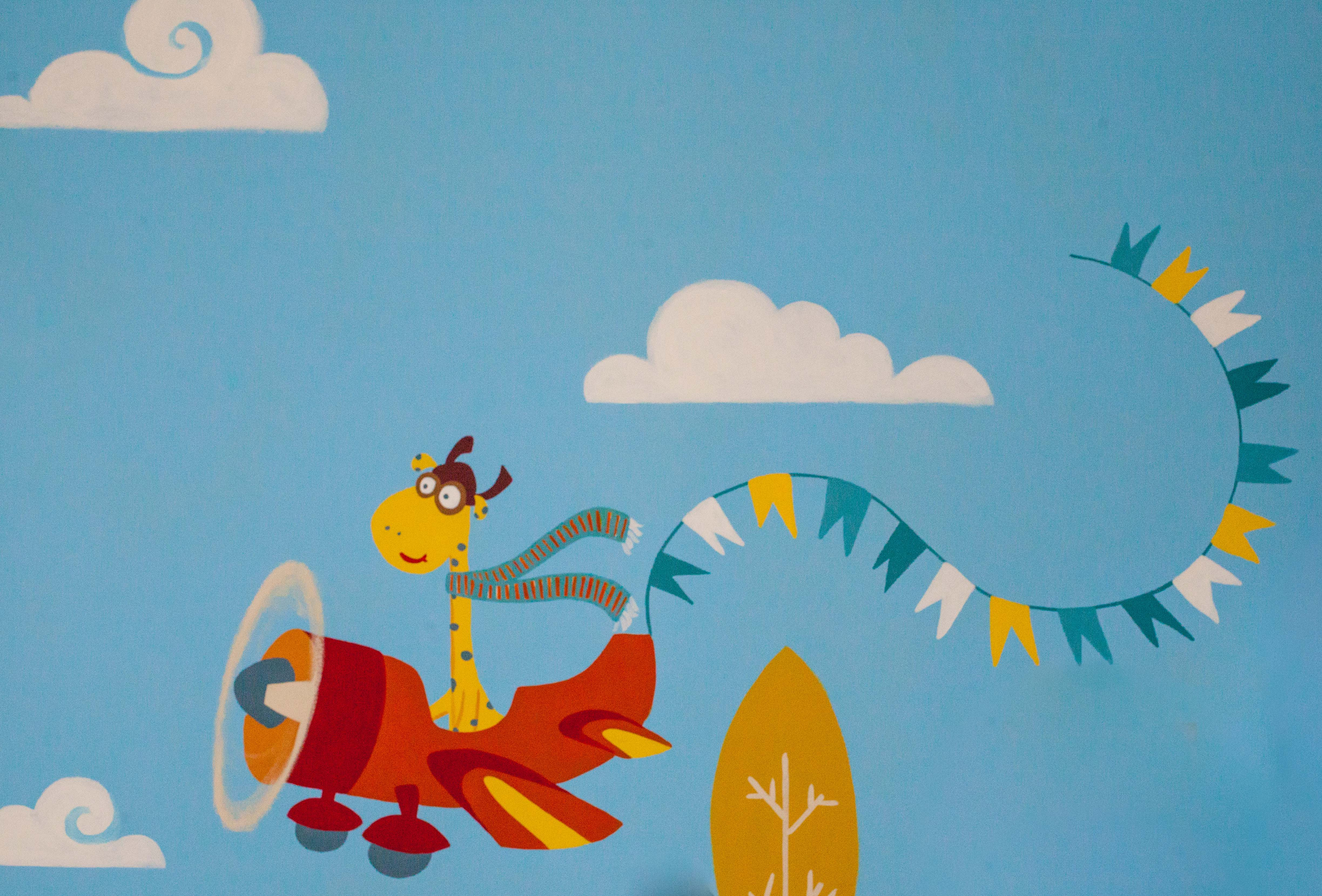 Mural in childrens hospital