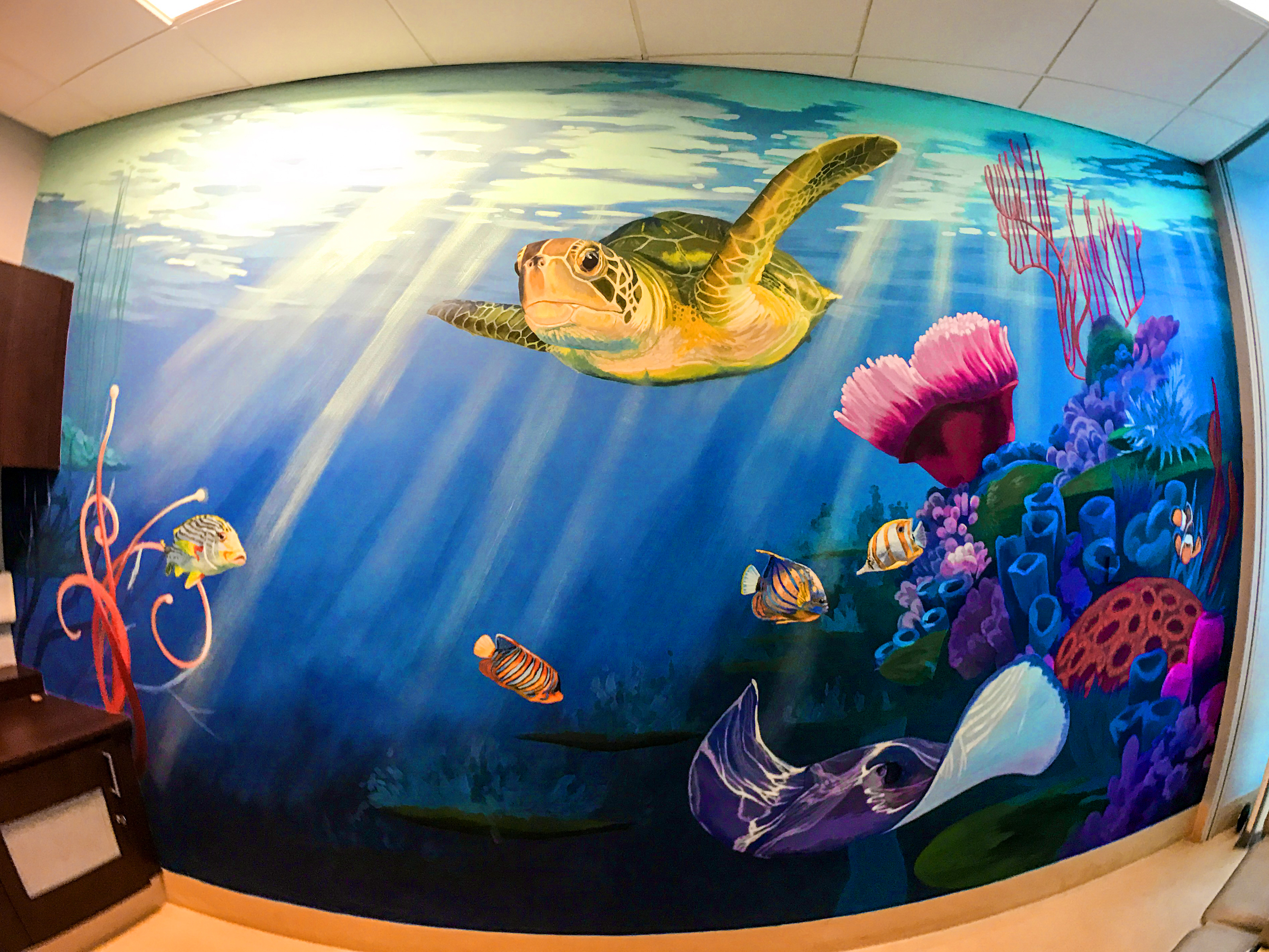 under water mural