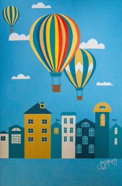 baloon mural