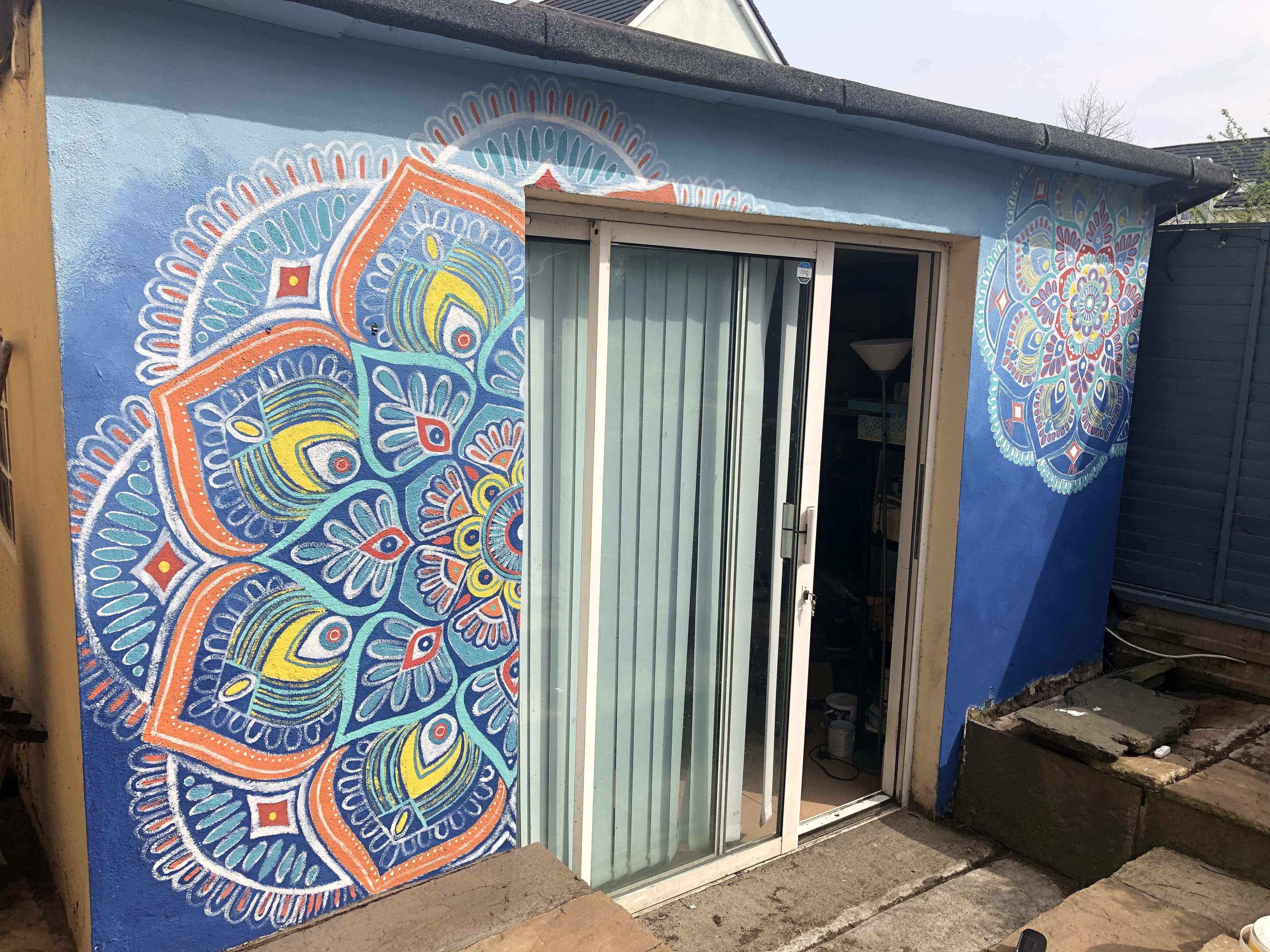 Mandala mural front