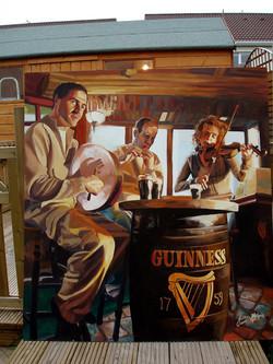 Irish mural. Dublin