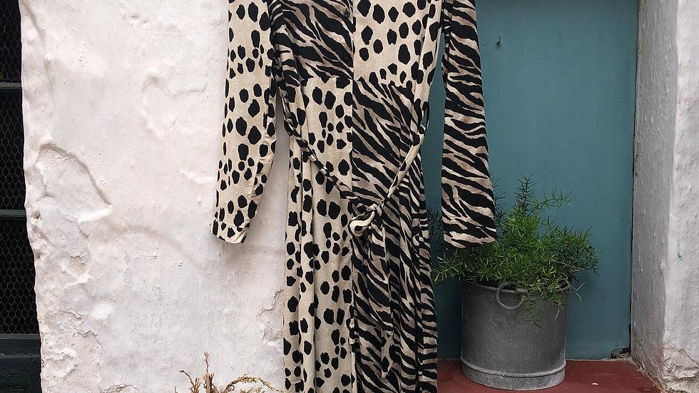 Vestido Leopardo y Zebra