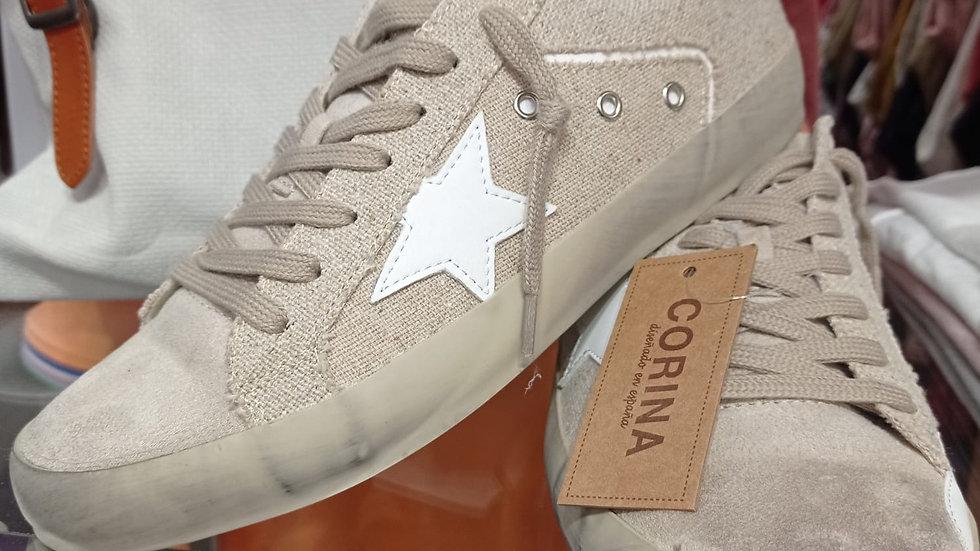 Zapatilla Estrella Blanca