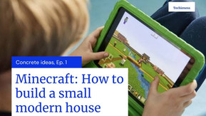 Minecraft: How to Build a Small & Easy Modern House tour 2021