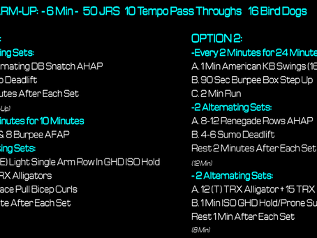 Daily Workout 5.4.21