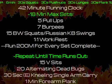 Daily Workout 11.26.20