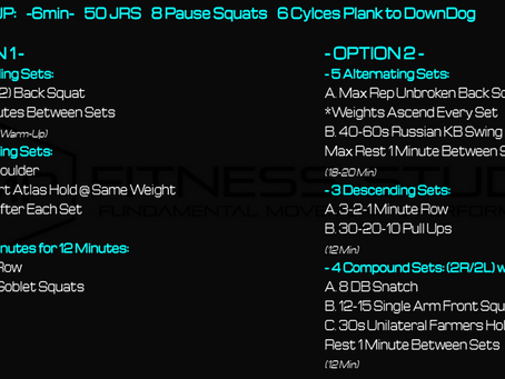 Daily Workout 2.16.21