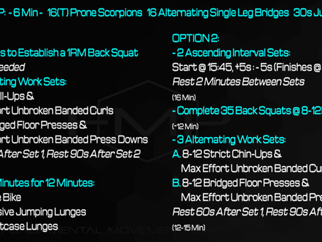 Daily Workout: 5.3.21