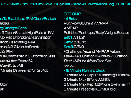 Daily Workout: 5.7.21