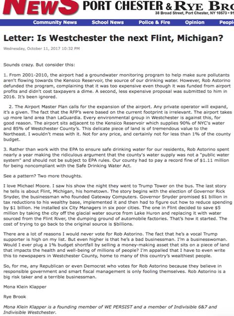 Mona Klein Klapper letter
