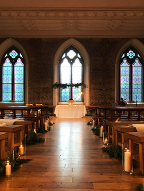 Aisle Decor - candles and greenery