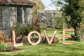LOVE sign in lights!
