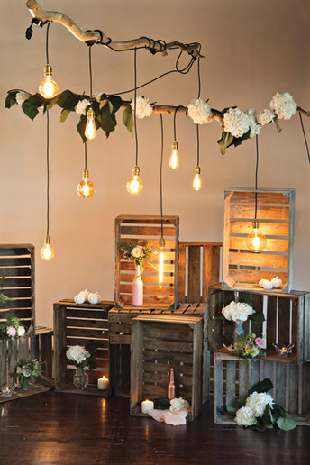 Crates and retro bulbs