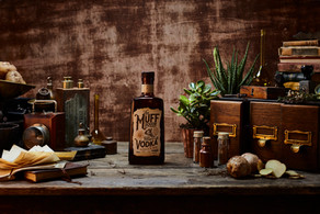 Muff Liquor Company Vodka product styling