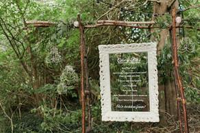 Ornate Frame acrylic sign