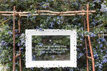 Ornate frame sign