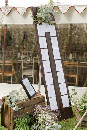 Tall wood boards seating plan