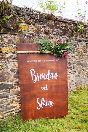 Welcome to the wedding of ... wood sign