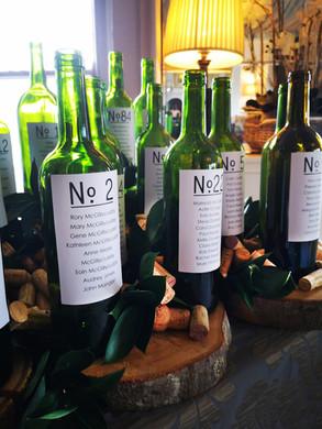Wine bottles seating plan