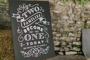 Two families become one today ... sign