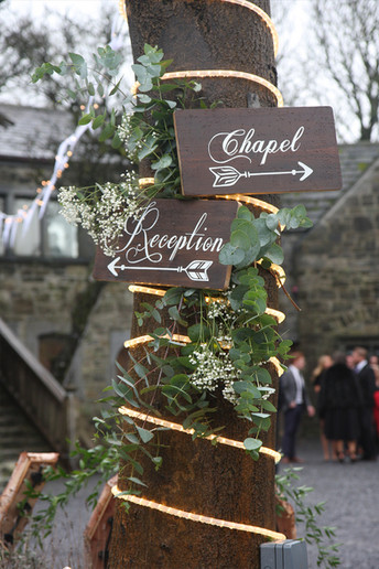 Chapel & Reception signs