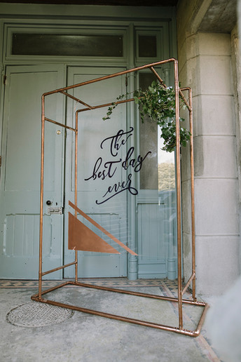 The best day ever ... sign with Copper Frame