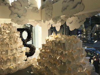Google HQ, Dublin, 2019 window display by Elk
