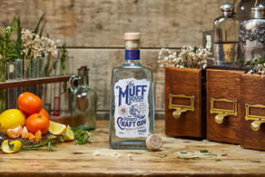 Muff Liquor Company Gin product styling