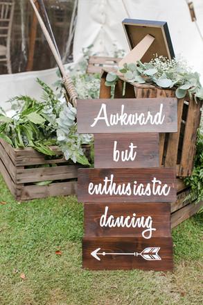 Awkward but enthusiastic dancing ... sign