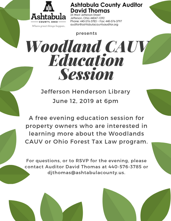 Woodlands Education Session June 12th