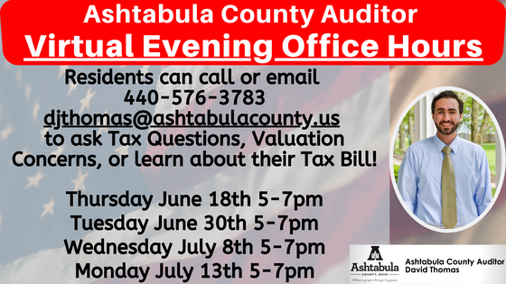 Auditor's Office Virtual Evening Office Hours